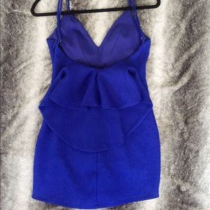 Luxxel Blue Mini Dress with Drapes Back